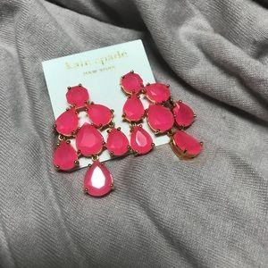 Hot pink Kate spade earrings